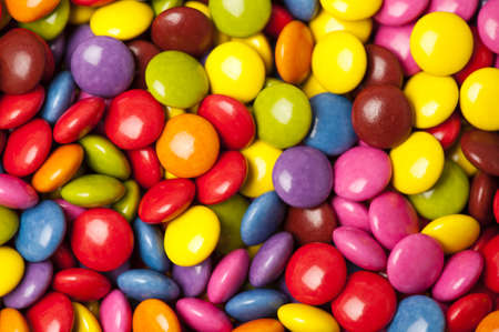 a lot of colorfull chocolate candies Stock Photo