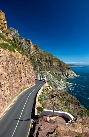chapmans: Chapmans Peak, road along the coast near Cape Town, South Africa Stock Photo