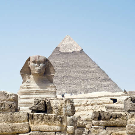 historically: Pyramids of Gizeh in Cairo, Egypt
