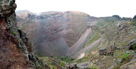 caldera of the volcano Vesuvius in Italy