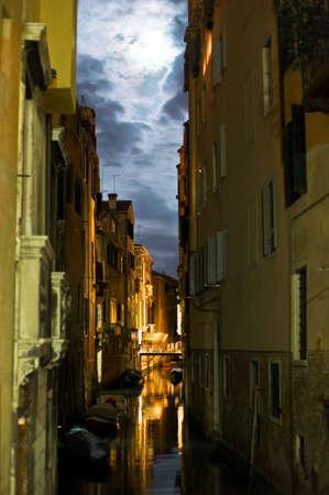 Venice in Italy at night photo