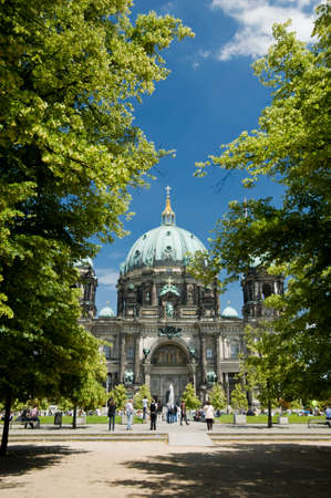 Berlin cathedral with blue sky
