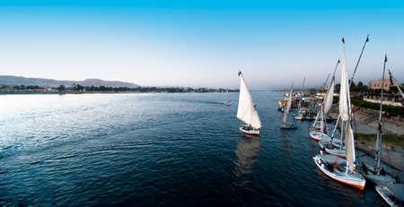 """Sonnenuntergang am Nil in Ã""""gypten Stock Photo"""