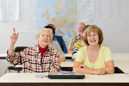 further: seniors in a classroom, further education