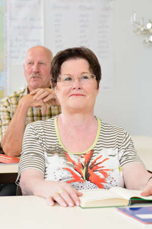 further education: woman in a classroom, further education