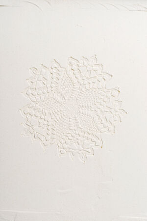 imprinted: a pattern imprinted into flour Stock Photo