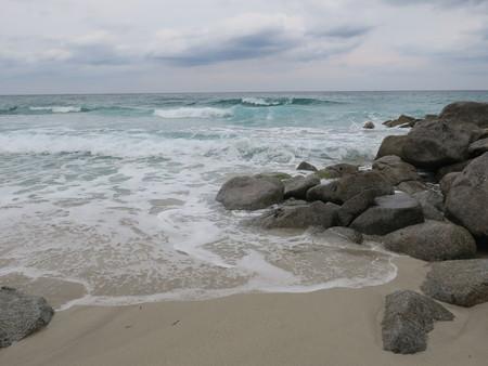 Sandy beach in Corsica Stock Photo
