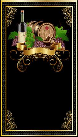 Label bottle of wine Stock Photo
