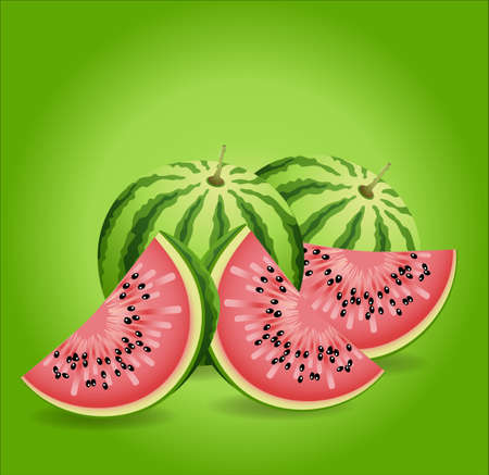 exported: Watermelon perfect illustration to advertise a product, made in vector and exported jpg