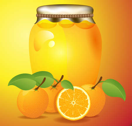 exported: Jar of marmalade orange vector illustration made ​​and exported to jpg Stock Photo