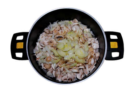 dieta: fresh mushrooms with onions are ideal for side dishes