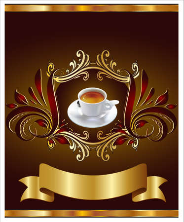 Advertising Label for Coffee