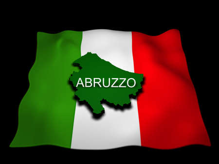 Abruzzo Region and the Italian flag