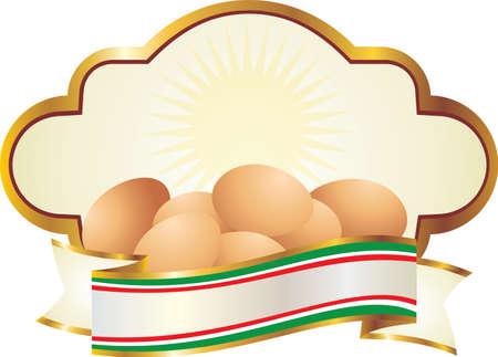 label for fresh eggs photo
