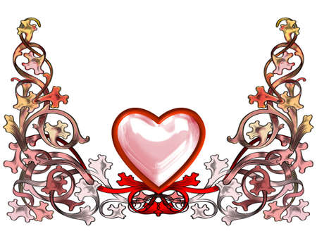 spouses: Decorated with red heart