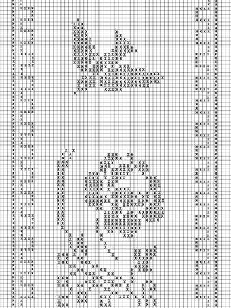 fillet: filet crochet pattern for Stock Photo