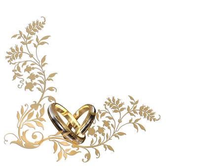 anillos de boda: ticket para el matrimonio Foto de archivo
