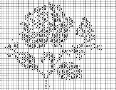 filets: filet crochet pattern for Stock Photo