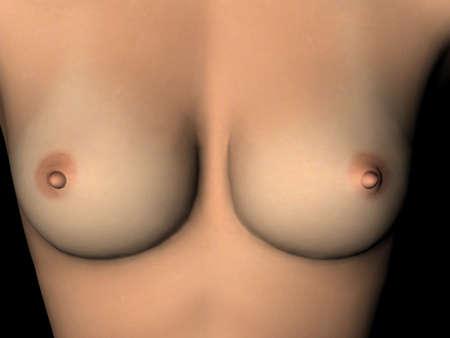 beautiful womans breast