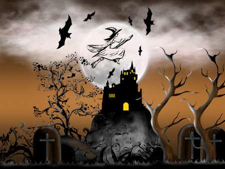 creepy: On Halloween night