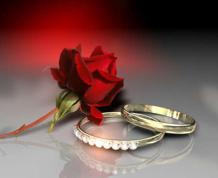 faiths: Red rose with the faiths of brilliant