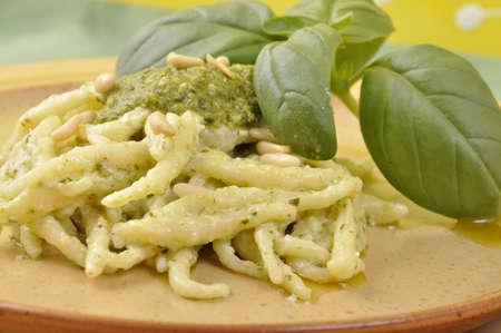 trofie with pesto sauce   Stock Photo - 13433953
