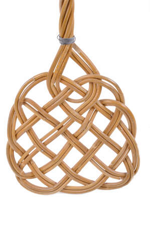Carpet beater and old on a white background photo