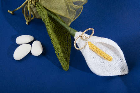 wedding favors: calla lily wedding favors for wedding crocheted