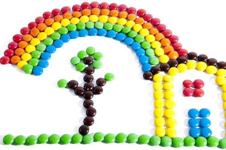 Chocolate colored confetti ideal for children