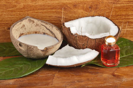 with fresh coconut fragrance on wooden board Stock Photo - 14475343