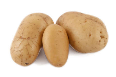 potato yellow earth on white background Stock Photo - 14550713