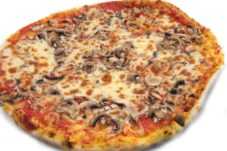 Various flavors of pizza with sausage and truffles, cherry tomatoes, and potatoes, mozzarella, photo