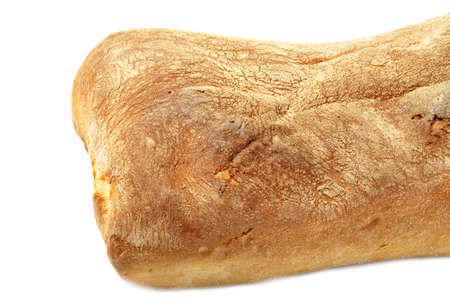 ciabatta bread with ears of wheat photo