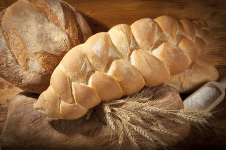 braided bread made with flour and wheat Stock Photo - 15067449