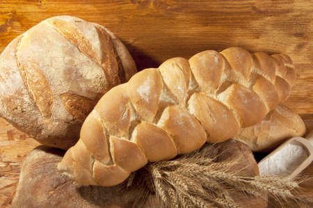 braided bread made with flour and wheat