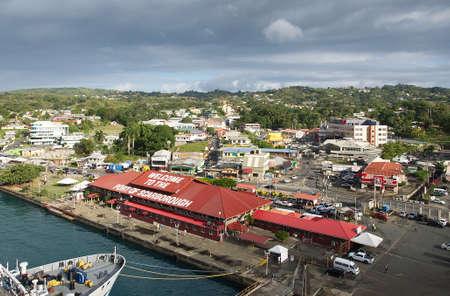 République de Trinité-et-Tobago - district portual - île de Tobago - ville Scarborough - mer des Caraïbes