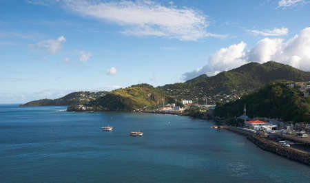george: Caribbean sea - Grenada Island - Saint Georges bay