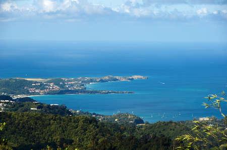 grenada: Caribbean sea - Grenada Island - Saint Georges - Grand Anse Bay and Devils Stock Photo
