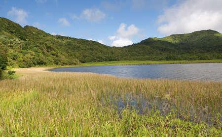grenada: Grenada island - Grand Etang National Park - Grand Etang Lake Stock Photo