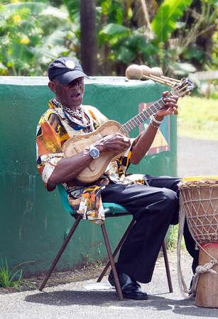 grenada: Grenada - Caribbean island - Grand Etang National Park - Local musician