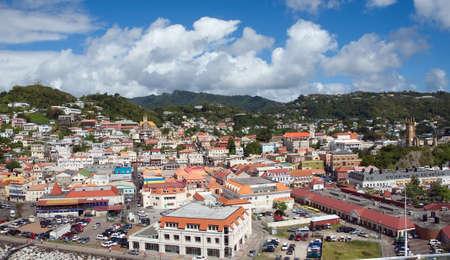 indies: Grenada tropical island - Saint Georges town
