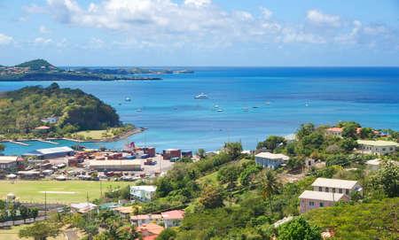 カリブ海のグレナダ島 - 聖ジョージ - インナー ハーバーとベイの悪魔