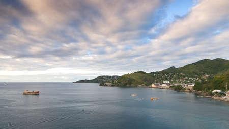 Grenada island - Saint Georges town and bay - Caribbean tropical sea