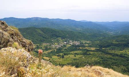 val: Liguria mountain range, Val dAveto view - Saint Stefano dAveto - Groppo Red - Italy