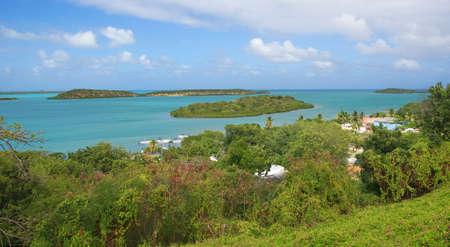 indian creek: Mercers Creek bay Atlantic Ocean coast - Caribbean tropical sea - Saint Johns - Antigua and Barbuda