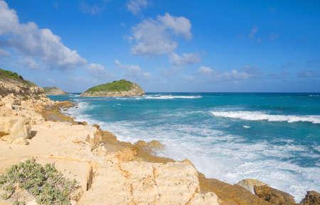 Half Moon Bay Atlantic Ocean coast - Caribbean tropical island - Saint Johns - Antigua and Barbuda