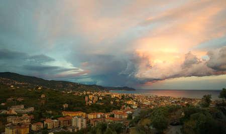 forked: Lightning and thunderstorm on the Tigullio Gulf - Ligurian Sea - Chiavari - Lavagna - Sestri Levante - Italy