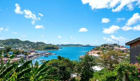 View of Caribbean sea - Grenada island - Saint George's - Inner harbor and Devils bay