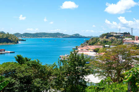 View of Caribbean sea - Grenada island - Saint George's - Inner harbor and Devils bay