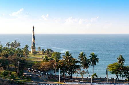 View of Santo Domingo waterfront, shoreline and shyline - Dominican Republic - Caribbean tropical island Фото со стока